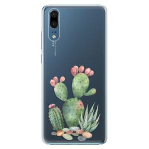 Plastové pouzdro iSaprio Kaktusy 01 na mobil Huawei P20