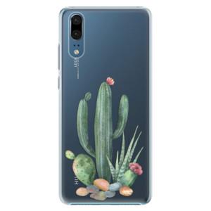 Plastové pouzdro iSaprio Kaktusy 02 na mobil Huawei P20