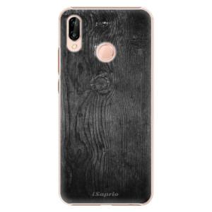 Plastové pouzdro iSaprio Black Wood 13 na mobil Huawei P20 Lite