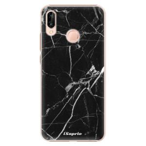 Plastové pouzdro iSaprio Black Marble 18 na mobil Huawei P20 Lite