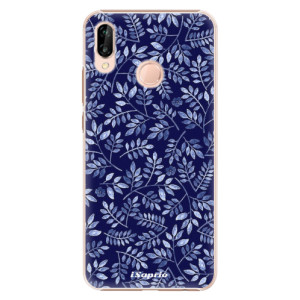 Plastové pouzdro iSaprio Blue Leaves 05 na mobil Huawei P20 Lite