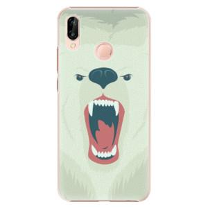 Plastové pouzdro iSaprio Naštvanej Medvěd na mobil Huawei P20 Lite