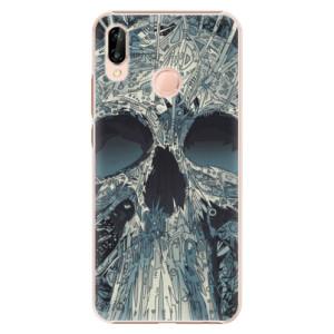 Plastové pouzdro iSaprio Abstract Skull na mobil Huawei P20 Lite