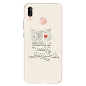 Plastové pouzdro iSaprio Sova Love na mobil Huawei P20 Lite - poslední kousek za tuto cenu