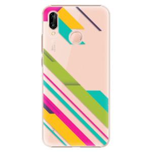 Plastové pouzdro iSaprio Barevné Pruhy 03 na mobil Huawei P20 Lite