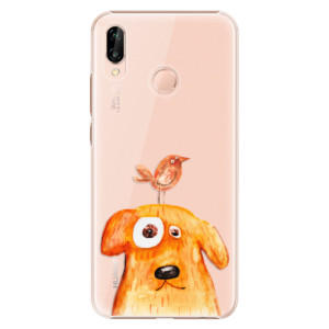 Plastové pouzdro iSaprio Pejsek a Ptáček na mobil Huawei P20 Lite
