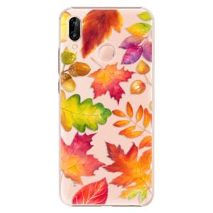 Plastové pouzdro iSaprio Podzimní Lístečky na mobil Huawei P20 Lite