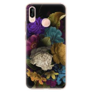 Plastové pouzdro iSaprio Temné Květy na mobil Huawei P20 Lite