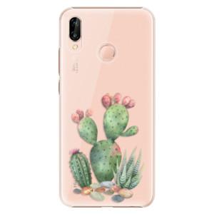 Plastové pouzdro iSaprio Kaktusy 01 na mobil Huawei P20 Lite