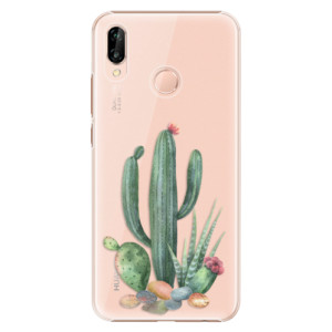 Plastové pouzdro iSaprio Kaktusy 02 na mobil Huawei P20 Lite