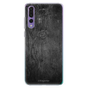 Plastové pouzdro iSaprio Black Wood 13 na mobil Huawei P20 Pro