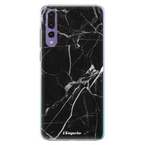 Plastové pouzdro iSaprio Black Marble 18 na mobil Huawei P20 Pro