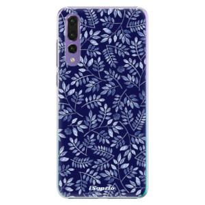 Plastové pouzdro iSaprio Blue Leaves 05 na mobil Huawei P20 Pro