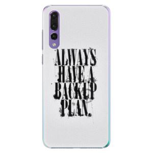 Plastové pouzdro iSaprio Backup Plan na mobil Huawei P20 Pro