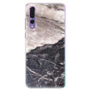 Plastové pouzdro iSaprio BW Mramor na mobil Huawei P20 Pro