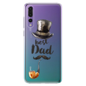 Plastové pouzdro iSaprio Best Dad na mobil Huawei P20 Pro