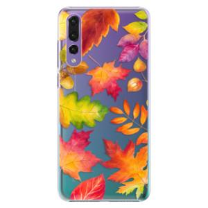 Plastové pouzdro iSaprio Podzimní Lístečky na mobil Huawei P20 Pro