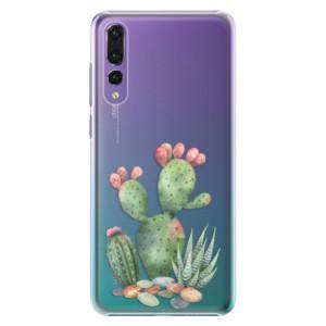 Plastové pouzdro iSaprio Kaktusy 01 na mobil Huawei P20 Pro