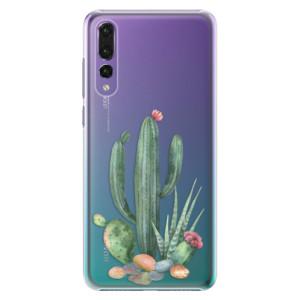 Plastové pouzdro iSaprio Kaktusy 02 na mobil Huawei P20 Pro