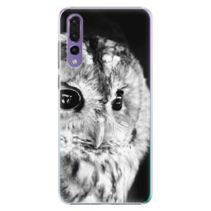 Plastové pouzdro iSaprio BW Sova na mobil Huawei P20 Pro