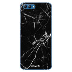 Plastové pouzdro iSaprio Black Marble 18 na mobil Honor View 10