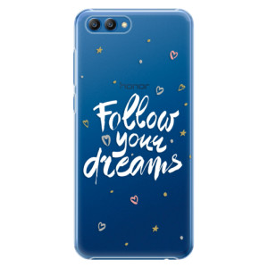 Plastové pouzdro iSaprio Follow Your Dreams bílý na mobil Honor View 10