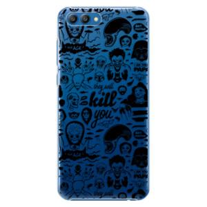Plastové pouzdro iSaprio Komiks 01 black na mobil Honor View 10