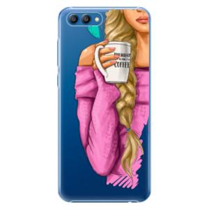 Plastové pouzdro iSaprio Blondýnka s kafčem na mobil Honor View 10