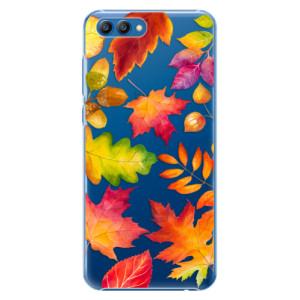 Plastové pouzdro iSaprio Podzimní Lístečky na mobil Honor View 10