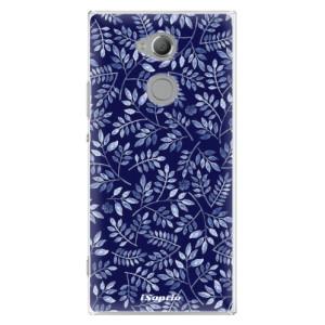 Plastové pouzdro iSaprio Blue Leaves 05 na mobil Sony Xperia XA2 Ultra