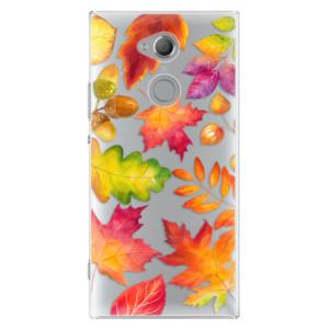 Plastové pouzdro iSaprio Podzimní Lístečky na mobil Sony Xperia XA2 Ultra