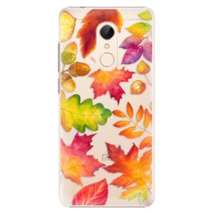 Plastové pouzdro iSaprio Podzimní Lístečky na mobil Xiaomi Redmi 5