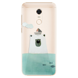 Plastové pouzdro iSaprio Medvěd s Lodí na mobil Xiaomi Redmi 5 Plus