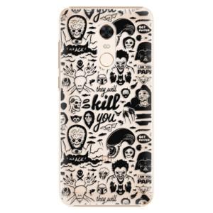 Plastové pouzdro iSaprio Komiks 01 black na mobil Xiaomi Redmi 5 Plus