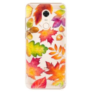 Plastové pouzdro iSaprio Podzimní Lístečky na mobil Xiaomi Redmi 5 Plus