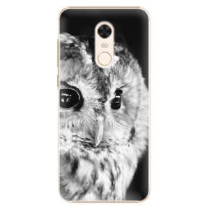 Plastové pouzdro iSaprio BW Sova na mobil Xiaomi Redmi 5 Plus