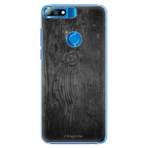Plastové pouzdro iSaprio Black Wood 13 na mobil Huawei Y7 Prime 2018