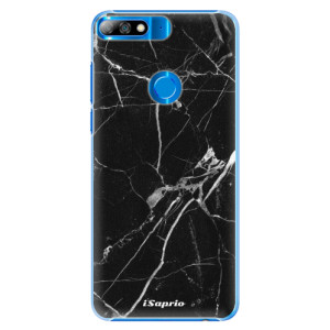 Plastové pouzdro iSaprio Black Marble 18 na mobil Huawei Y7 Prime 2018