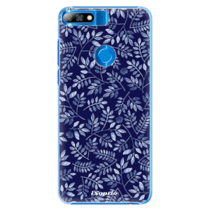 Plastové pouzdro iSaprio Blue Leaves 05 na mobil Huawei Y7 Prime 2018