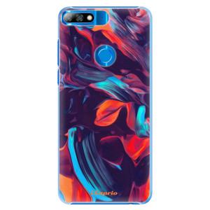 Plastové pouzdro iSaprio Barevný mramor 19 na mobil Huawei Y7 Prime 2018