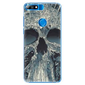 Plastové pouzdro iSaprio Abstract Skull na mobil Huawei Y7 Prime 2018