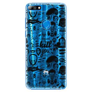 Plastové pouzdro iSaprio Komiks 01 black na mobil Huawei Y7 Prime 2018