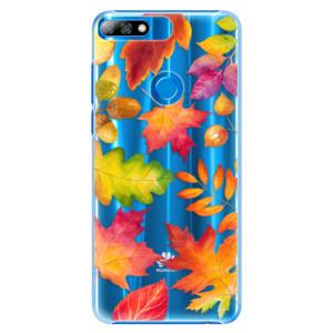 Plastové pouzdro iSaprio Podzimní Lístečky na mobil Huawei Y7 Prime 2018