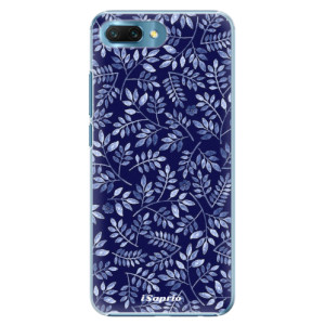 Plastové pouzdro iSaprio Blue Leaves 05 na mobil Honor 10