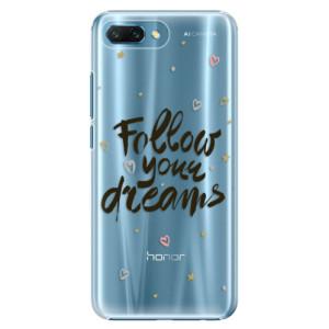 Plastové pouzdro iSaprio Follow Your Dreams černý na mobil Honor 10
