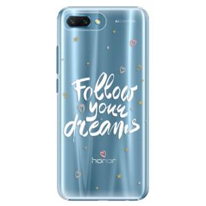 Plastové pouzdro iSaprio Follow Your Dreams bílý na mobil Honor 10