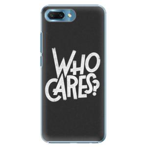 Plastové pouzdro iSaprio Who Cares na mobil Honor 10