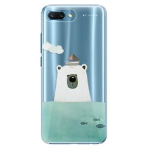 Plastové pouzdro iSaprio Medvěd s Lodí na mobil Honor 10