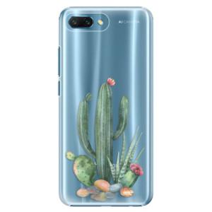 Plastové pouzdro iSaprio Kaktusy 02 na mobil Honor 10