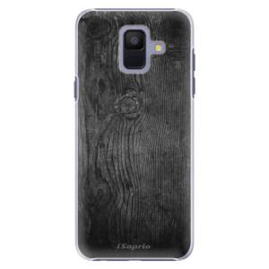 Plastové pouzdro iSaprio Black Wood 13 na mobil Samsung Galaxy A6